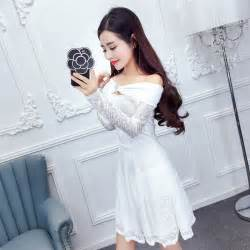 Dress Brukat Elegan dress pesta warna putih brukat myrosefashion