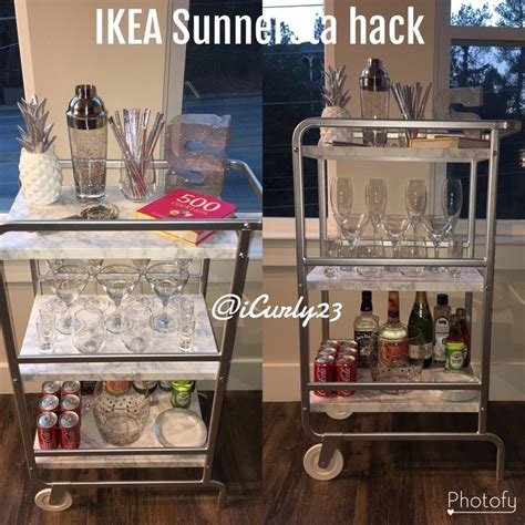 sunnersta ikea hack the 25 best ikea bar cart ideas on pinterest drinks