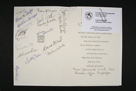 Records Sacramento County Card From Sacramento County Clerk Recorder S Office Employees