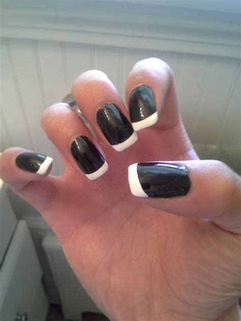 nail r black and tip gel nails nails r by