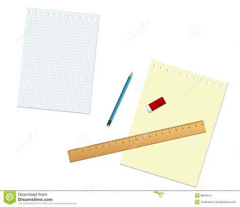 Tools For Paper - stationary tools and paper stock photography image 8840312