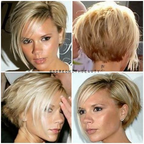 pixie haircuts front and back view of same back of victoria beckham hair victoria beckham hair