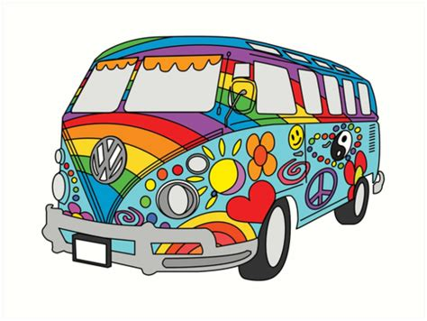 hippie van drawing hippies clipart volkswagen pencil and in color hippies