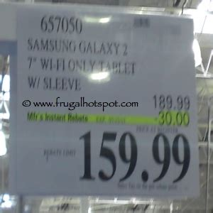 costco tablet prices costco price cut samsung 7 quot galaxy tab 2 with wi fi