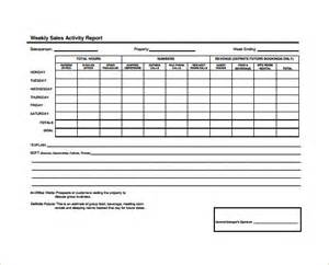 weekly sales call report template weekly sales report template vertola