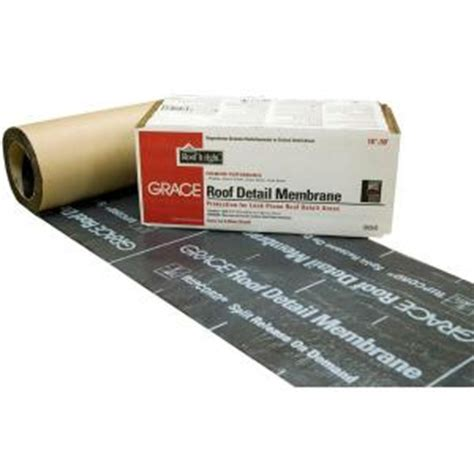 Rubber Roofing Materials Home Depot by Grace 18 In X 50 Ft Asphalt Roll Roofing Detail Membrane