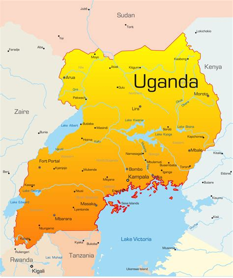 map of uganda uganda map with cities blank outline map of uganda