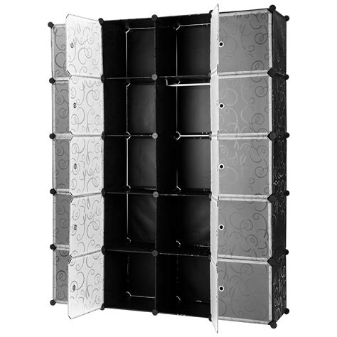 20 cube curly patterned modular storage organizer shelves