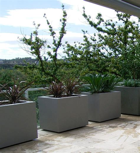 Outdoor Modern Planters planter boxes