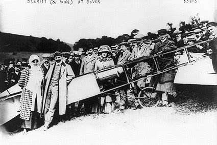 louis bleriot w/ wife and plane at dover photo print for sale