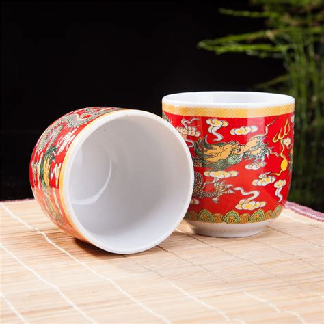 6 Pcs Piring Oval Dinner Ware 301 Purple set of 6 eastern asian design ceramic tea cups in