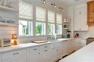 Shiplap Countertop Bianco Avion Marble Countertops Transitional Kitchen