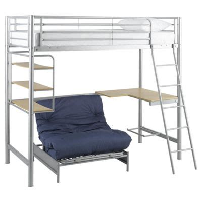 Buy Mika High Sleeper Frame Only Silver From Our Metal High Sleeper Bed Frame