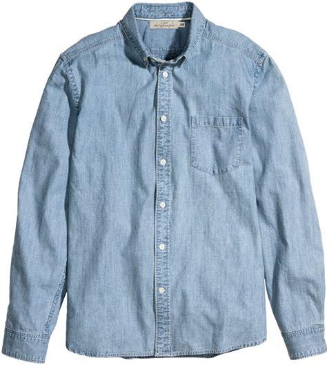 Light Chambray Shirt by H M Chambray Shirtlight Blue