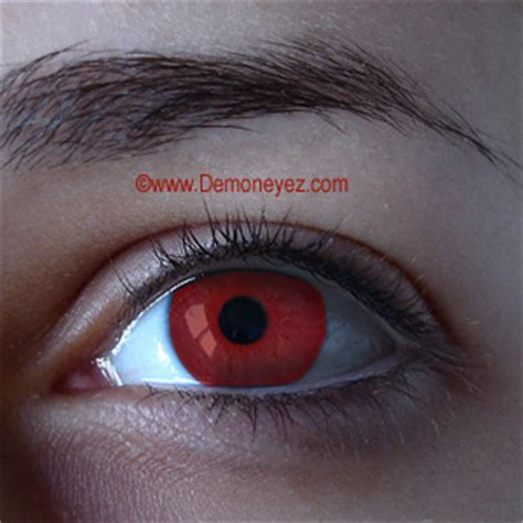 demon blood red halloween contact lenses red contact lenses