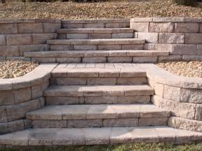 Retaining Wall Stairs Design Retaining Walls And Planters Az Landscape Creations
