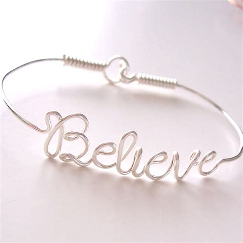 wire name bracelet with your favorite names or words by