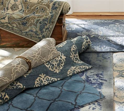 Pottery Barn Scroll Rug Empire Scroll Rug Indigo Pottery Barn