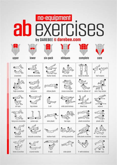 amazing abdominal core workouts  darebee  lifevest