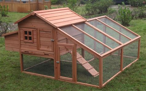 backyard hen house deluxe wood chicken coop backyard hen house 3 6 chickens w nesting box run ebay