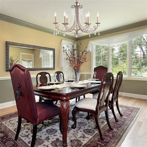 Silver Dining Room Chandeliers Six Light Antique Silver Up Chandelier Traditional