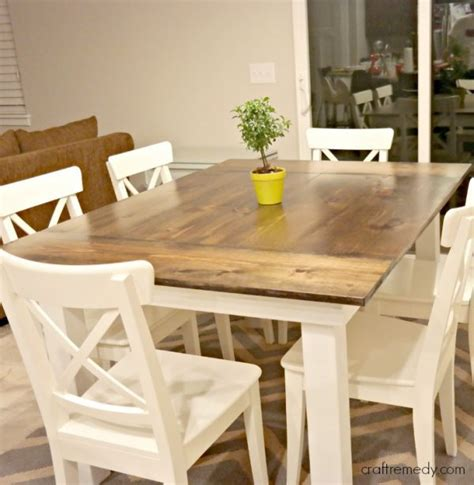 simple dining table 40 diy farmhouse table plans ideas for your dining room