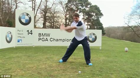 happy gilmore golf swing england stars owen farrell ben foden and joe marler take
