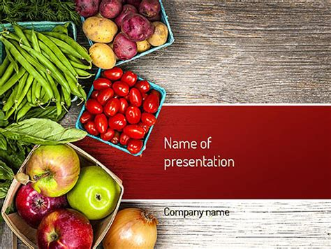 fruit and veg powerpoint template, backgrounds   11252