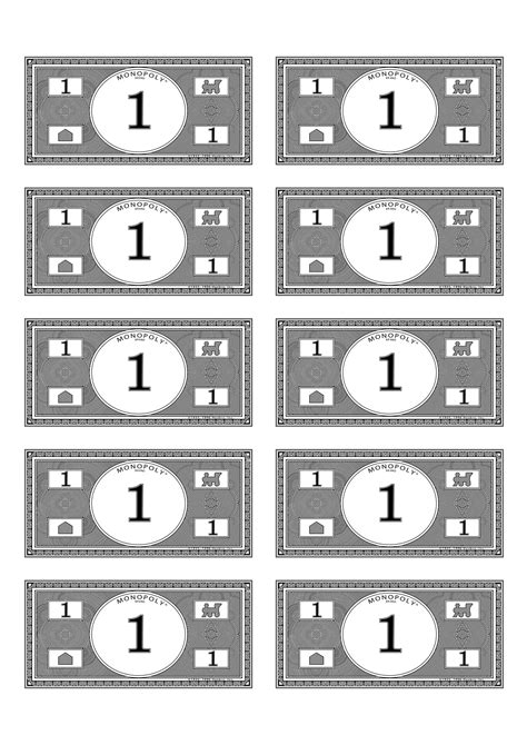 monopoly money 1 budget pinterest