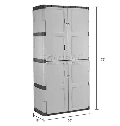 rubbermaid full double door cabinet rubbermaid 7083 plastic storage cabinet full double door