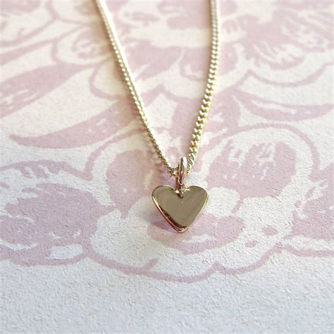 tiny gold necklace by jewellery