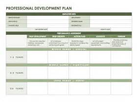 professional improvement plan template free microsoft office templates smartsheet