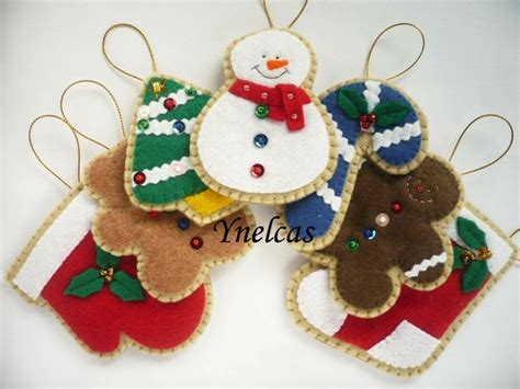 felt christmas ornaments handmade felt christmas