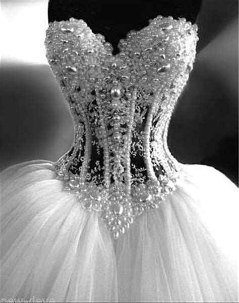 Wedding Dress,Gorgeous White Pearl Rhinestone Sparkly Bridal Dress, Ball Gown Wedding Dresses