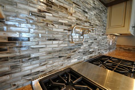 Glass Tile Kitchen Backsplash Tozen Glass Tile Kitchen Backsplash Contemporary Other