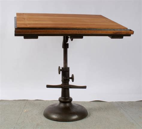 Drafting Table Base Impressive 1940s Pedestal Base Architect S Drafting Table At 1stdibs