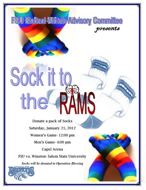Sock Drive Vs Winston Salem State Fsu News Sock Drive Flyer Template