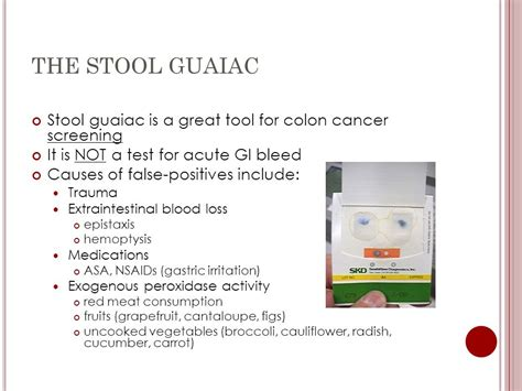 Stool Test For Cancer by Brad Martin Md C O Jason De Roulet Md July 18 Ppt