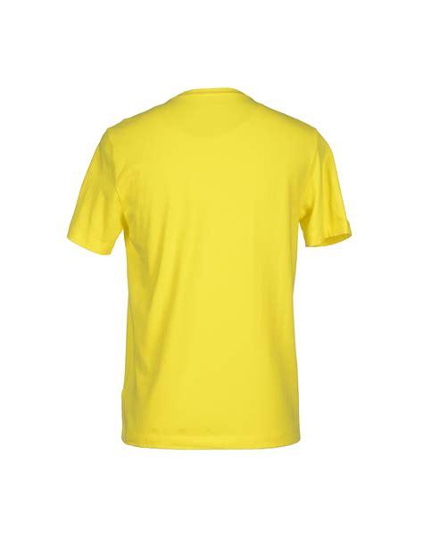 Tshirt Yellow ea7 yellow t shirt for lyst