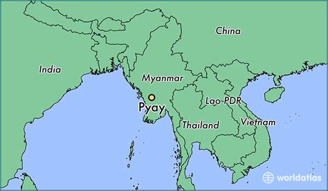 where is myanmar on the map where is pyay myanmar where is pyay myanmar located