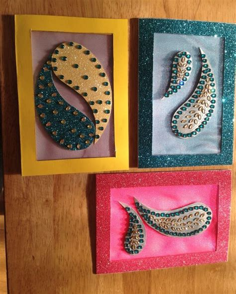 Handmade Crafts For Diwali - made diwali cards indian crafts diamante deco