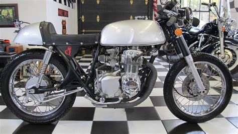 1973 honda cb350 four cafe racer fresh frame restoration silver bullet for sale