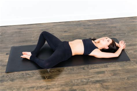 Reclined Position by Pose Reclining Bound Angle Pose Yogaclassplan