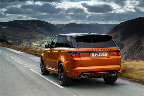 orange range rover svr range rover sport svr 2018 uk review autocar