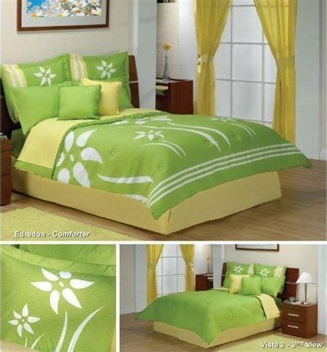yellow  lime green bedroom set products  love