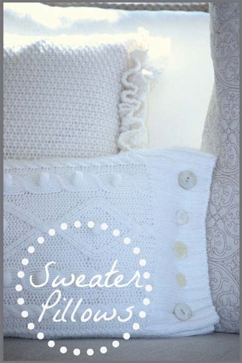 How To Make A Sweater Pillow by 45 Diy Pillows Diy Projects For