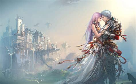 anime boy girl love castle hd wallpaper love wallpapers