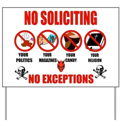 how do the dubbies handle no soliciting signs now?