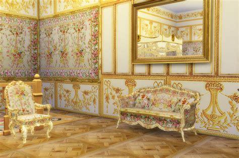 rococo versailles queens bedchamber sims  set  set