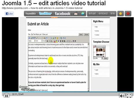 video tutorial for joomla 30 joomla tutorials web3mantra